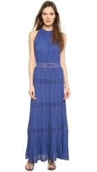 M Missoni Long Pleated Dress Royal