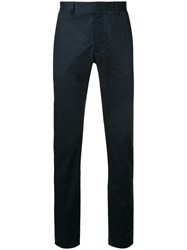 Cerruti 1881 Straight Leg Trousers Cotton Spandex Elastane Blue