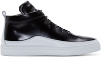Public School Black Leather Braeburn Sneakers