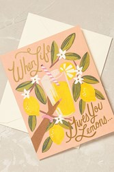 Anthropologie Rifle Paper Co. Card Pink