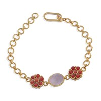 Emma Chapman Jewels Bellina Coral And Rose Quartz Bracelet Pink Purple Yellow