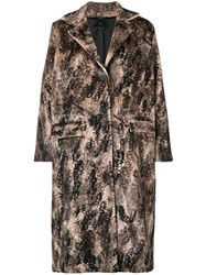 Avant Toi Animalier Printed Coat Black