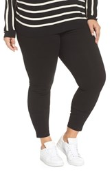Lysse Plus Size Stretch Denim Leggings Black
