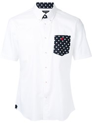 Loveless Polka Dot Pocket Shirt Men Cotton 1 White