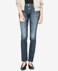 Silver Jeans Co. Juniors' Elyse Curvy Fit Straight Leg Indigo