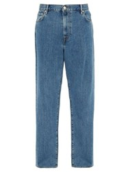 Burberry Stonewashed Relaxed Leg Jeans Blue