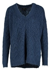 Religion Cult Jumper Denim Blue