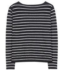 Vince Striped Cashmere Sweater Black