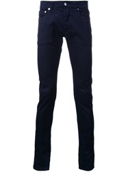 Attachment Skinny Jeans Blue