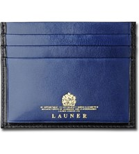 Launer Luxury Leather Card Case Black Blue