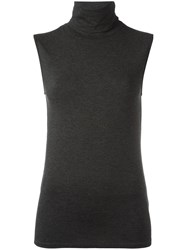 Majestic Filatures Turtleneck Tank Top Grey
