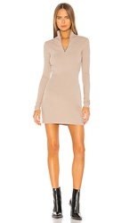 Cotton Citizen Ibiza Mini Dress In Beige. Sand Dollar