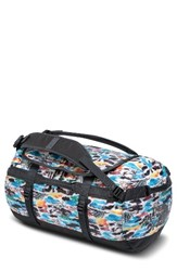 The North Face 'Base Camp' Duffel Bag White Snow Camo Asphalt Grey
