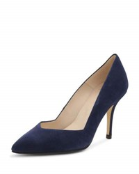 Andre Assous Steph Suede Pointed Toe Pump Blue