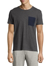Atm Anthony Thomas Melillo Silk Pocket Crewneck Tee Gray