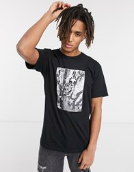 Obey Torn Icon Star T Shirt In Black