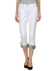 Guess By Marciano Denim Denim Capris Women White