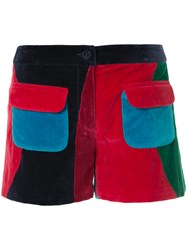 Manish Arora Patch Pocket Shorts Cotton Polyester Red