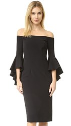 Milly Cady Selena Slit Dress Black