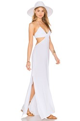 Indah Blaze Cutout Maxi Dress White