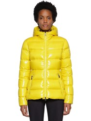 Moncler Rhin Nylon Logo Down Jacket Yellow