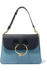 J.W.Anderson Pierce Medium Leather Shoulder Bag Blue