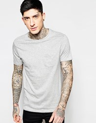 Brave Soul Plain T Shirt Grey