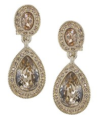Carolee The Bridget Crystal Double Drop Earrings Topaz Crystal Gold