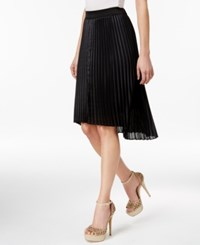 Thalia Sodi Pleated High Low Skirt Only At Macy's Deep Black