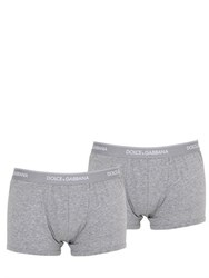 Dolce And Gabbana Pack Of 2 Stretch Jersey Boxer Briefs