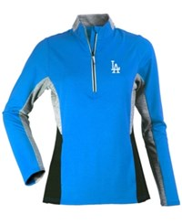 Antigua Women's Los Angeles Dodgers Karma Pullover Royalblue Black