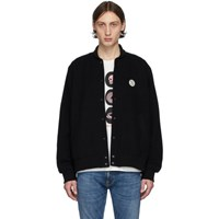 Nudie Jeans Black Bengan Fleece Bomber Jacket