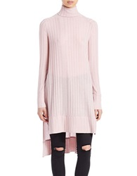 Free People Ribbed Turtleneck Tunic Sweater Pink