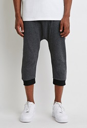 Forever 21 Speckled Drop Crotch Sweatshorts Charcoal