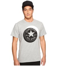 Converse Large Circle Chuck Patch Short Sleeve Tee Vintage Grey Heather Men's T Shirt Gray