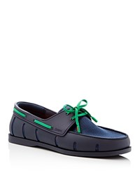 Swims Boat Shoe Loafers Navy Green