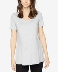 A Pea In The Pod Maternity V Neck Tee Light Heather Grey