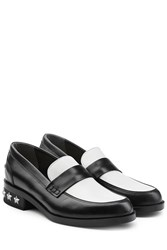 Karl Lagerfeld Two Tone Leather Loafers Multicolor