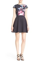 Ted Baker Women's London 'Dokota' Cap Sleeve Skater Dress