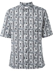 Christophe Lemaire Lemaire Printed Shortsleeved Shirt Blue