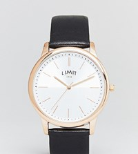 Limit Black Leather Watch Exclusive To Asos