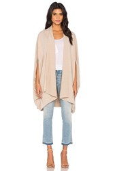 Shades Of Grey Oversized Cocoon Cape Beige