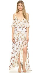 Shakuhachi Posie Off Shoulder Dress Posie Buttermilk Print