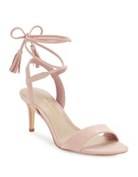 424 Fifth Giovanna Suede Sandals Blush