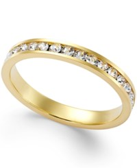 Giani Bernini Swarovski Zirconia Band In Sterling Silver Or 24K Gold Over Sterling Silver