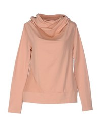European Culture Topwear Sweatshirts Women Ochre