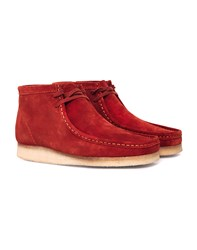 Clarks Originals Suede Wallabee Boot Red