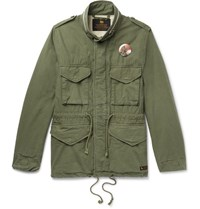 Neighborhood Printed Brushed Cotton Ripstop Field Jacket Army Green
