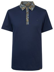 Pretty Green Stretford Paisley Polo Shirt Navy