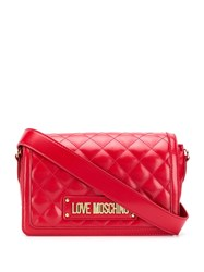 Love Moschino Logo Quilted Bag Red